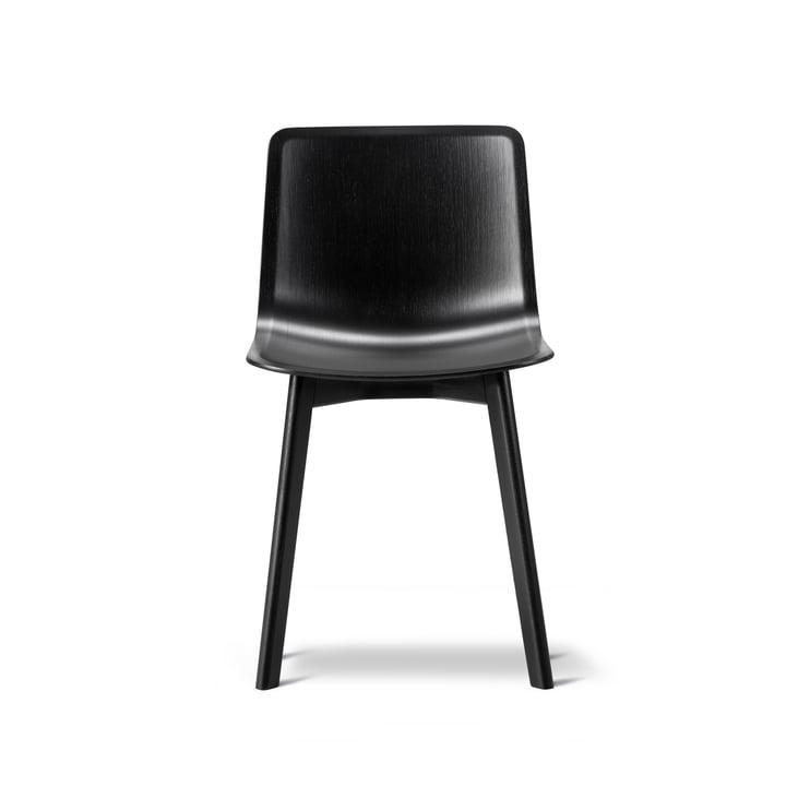 Pato Stuhl (Furnier / Holz) von Fredericia in Eiche schwarz lackiert