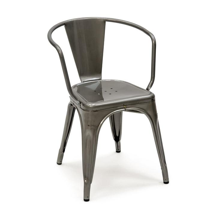 Tolix - A56 Armlehnstuhl Indoor, Stahl grau lasiert
