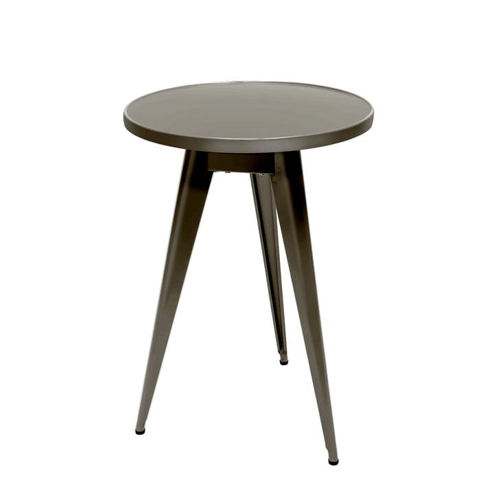 55 Bistrotisch Ø 51 cm von Tolix in Stahl grau lasiert