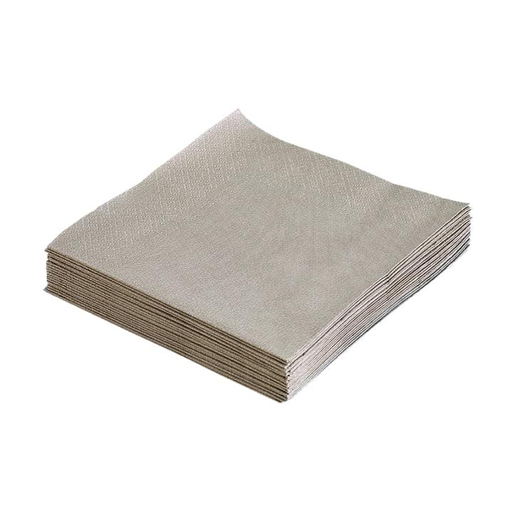 Papierservietten 33 x 33 cm von LindDNA in Hellgrau (20 Stk.)