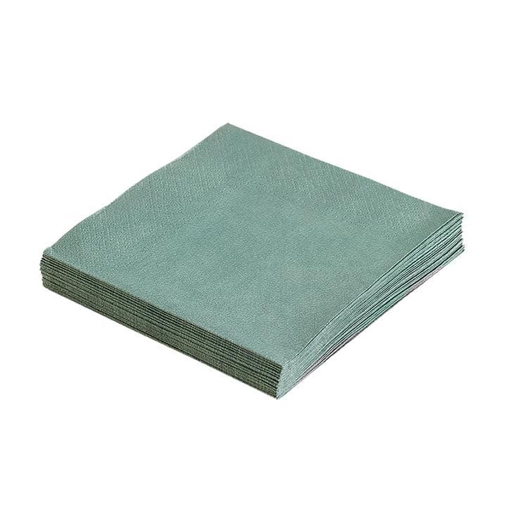 Papierservietten 33 x 33 cm von LindDNA in Pastellgrün (20 Stk.)