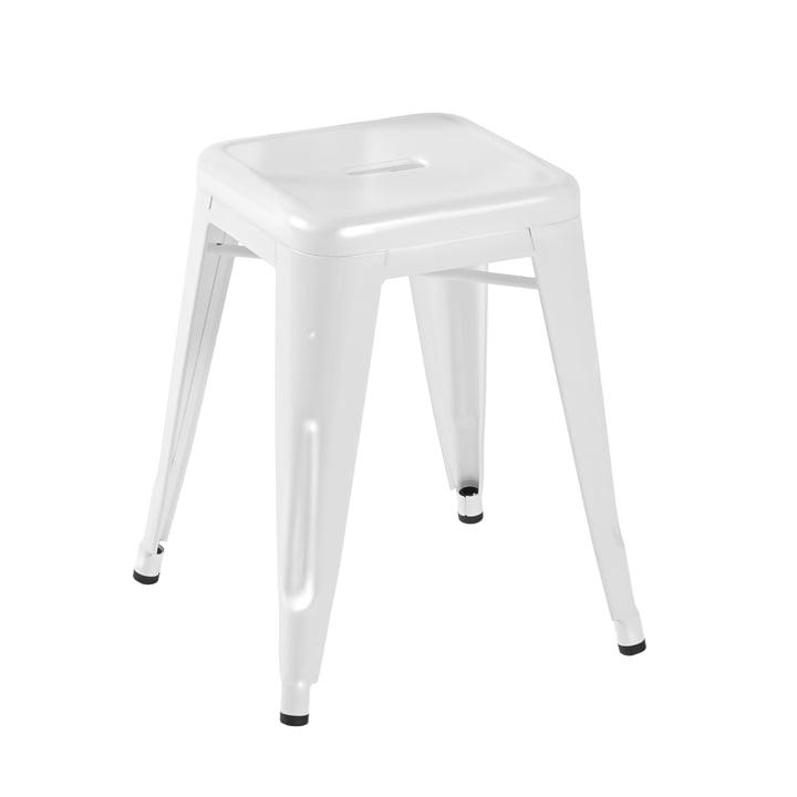 Tolix - H45 Hocker Indoor, weiß glänzend