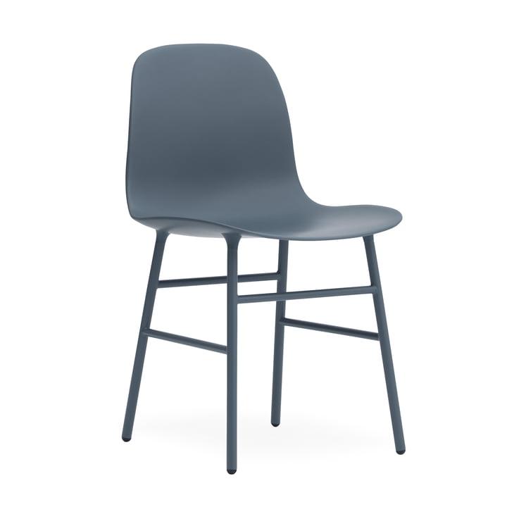 Form Stuhl Gestell Stahl von Normann Copenhagen in Blau