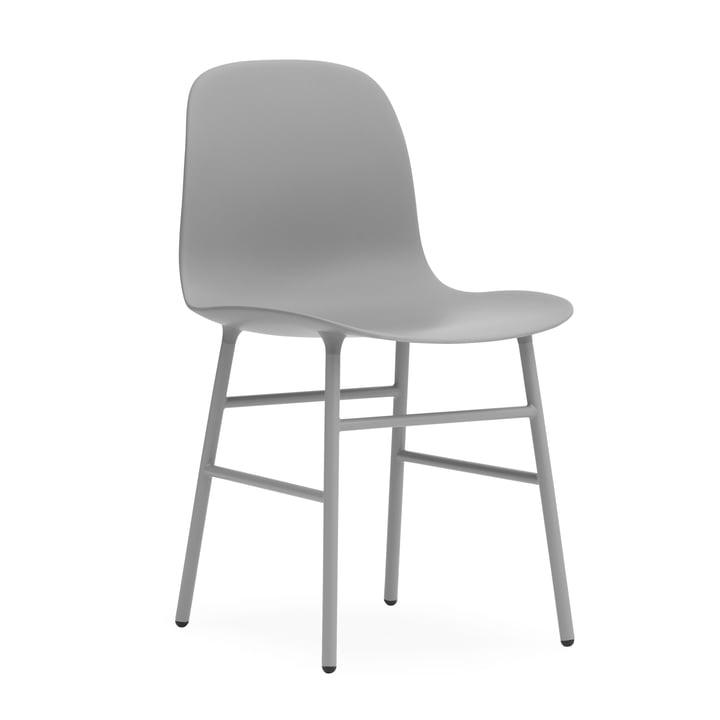 Form Stuhl Gestell Stahl von Normann Copenhagen in Grau