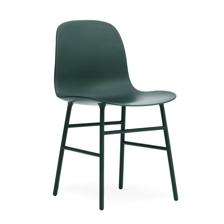 Form Stuhl Gestell Stahl von Normann Copenhagen in Grün