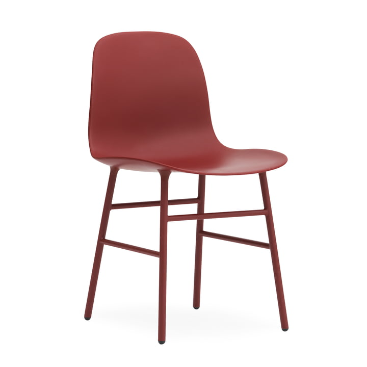Form Stuhl Gestell Stahl von Normann Copenhagen in Rot