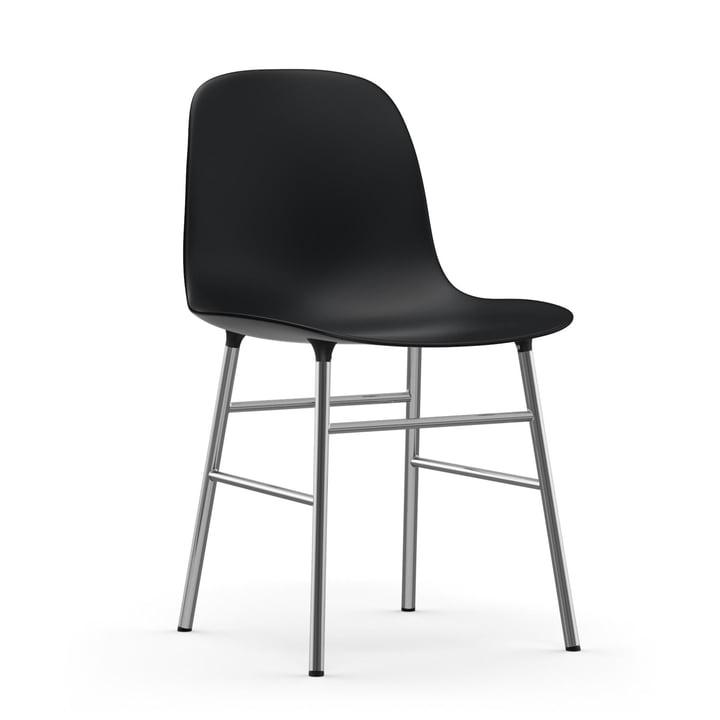 Form Stuhl (Chrom) von Normann Copenhagen in Schwarz