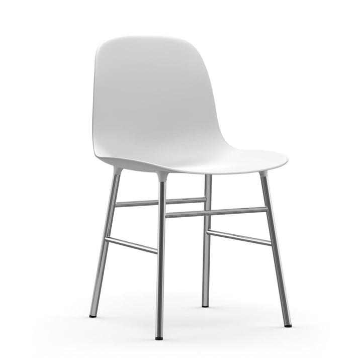 Form Stuhl (Chrom) von Normann Copenhagen in Weiß