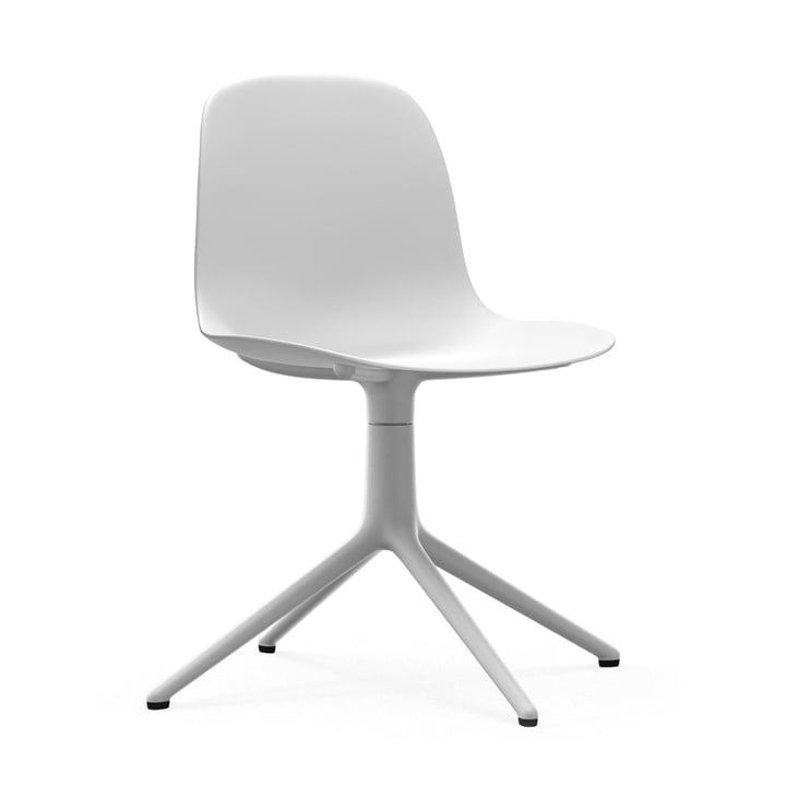 Form Drehstuhl von Normann Copenhagen in Aluminium Weiß / Weiß