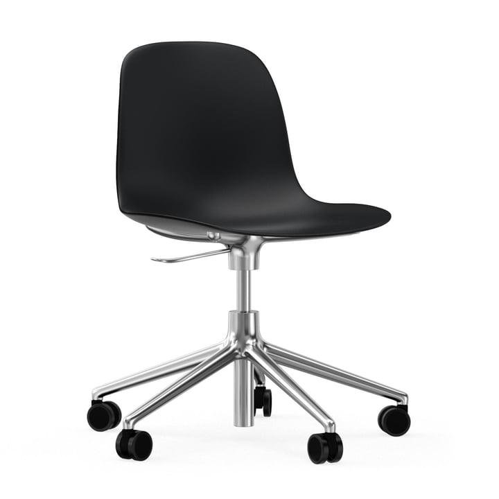Form Bürodrehstuhl von Normann Copenhagen in Schwarz / Aluminium