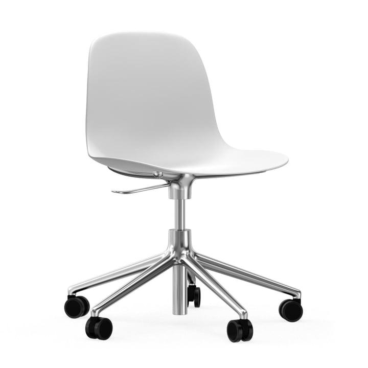 Form Bürodrehstuhl von Normann Copenhagen in Weiß / Aluminium