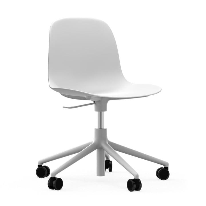 Form Bürodrehstuhl von Normann Copenhagen in Weiß / Aluminium Weiß