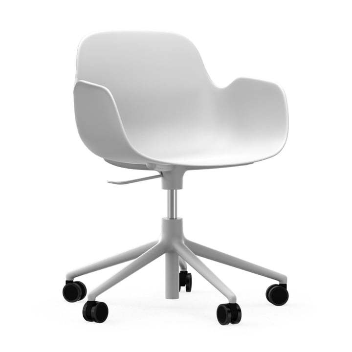 Form Bürodrehsessel von Normann Copenhagen in Aluminium Weiß / Weiß