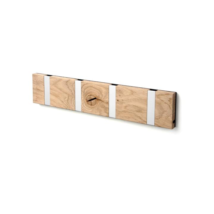 Die LoCa - Knax Rustique 4er Garderobenleiste in Eiche geseift / grau