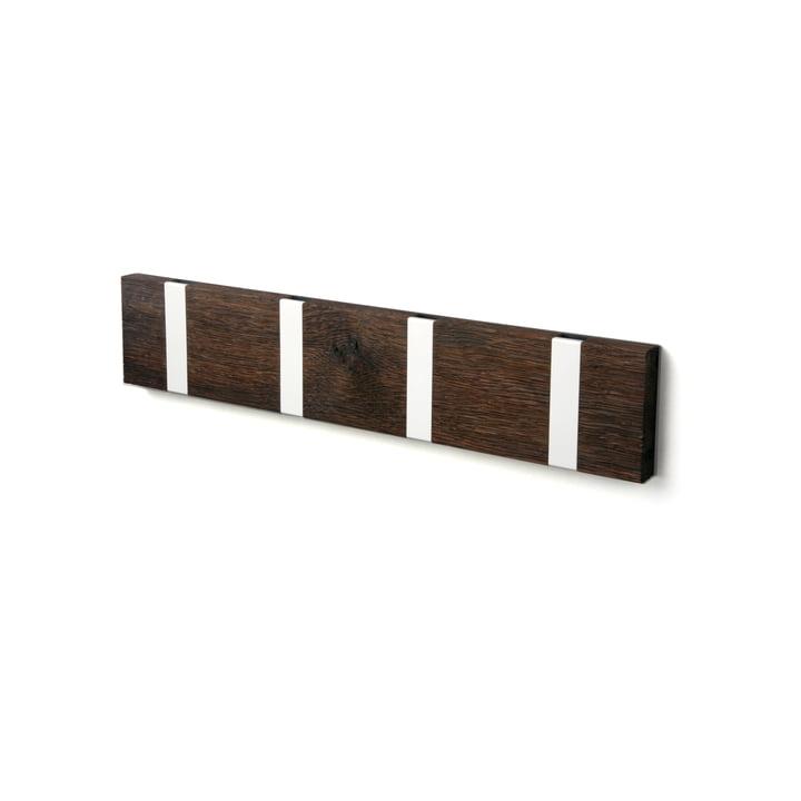 Die LoCa - Knax Rustique 4er Garderobenleiste in Eiche Tabac geölt / grau