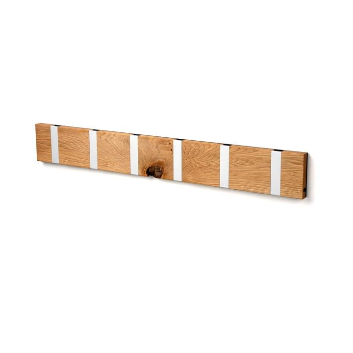 Die LoCa - Knax Rustique 6er Garderobenleiste in Eiche geölt / grau