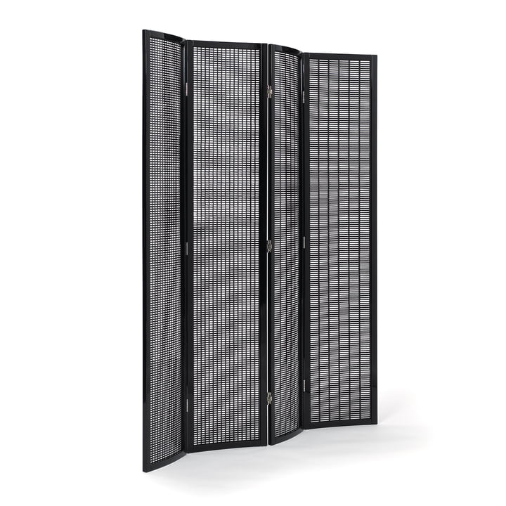 Folding Screen Paravent von ClassiCon in Schwarz hochglanz