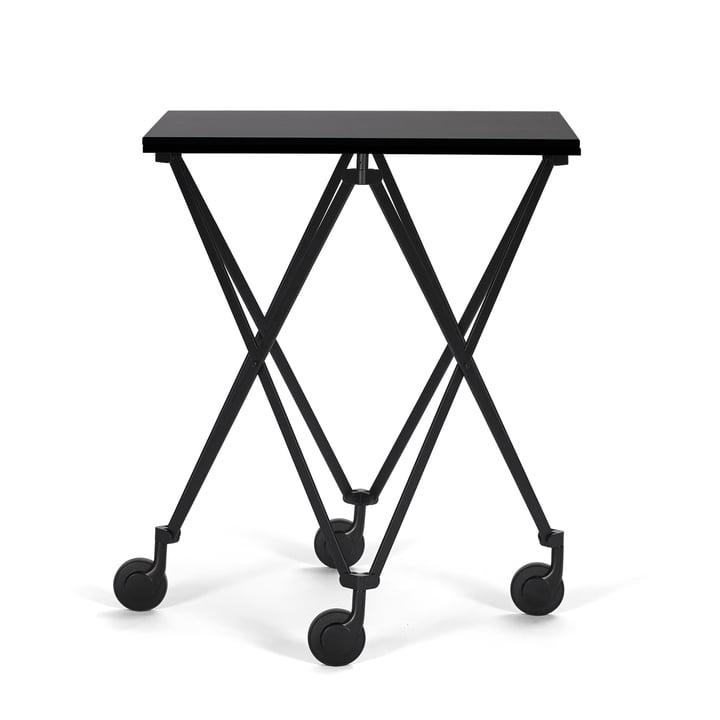 Sax Beistellwagen von ClassiCon mit Gestell in Schwarz / Tischplatte Fenix HPL Schwarz