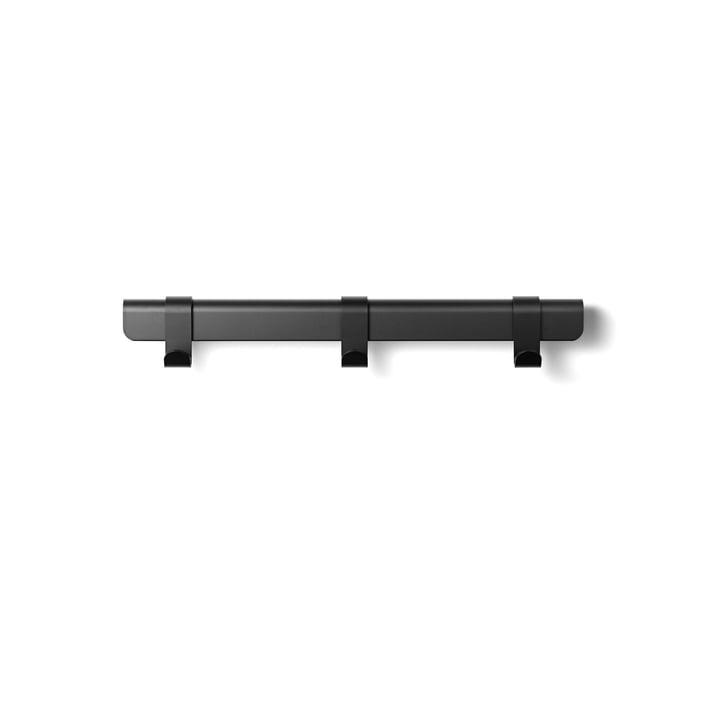 Die Million - Hug Garderobenleiste, 60 cm / 3 Haken in schwarz