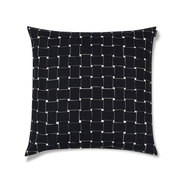 Basket Kissenbezug 50 x 50cm von Marimekko in Schwarz / Weiß