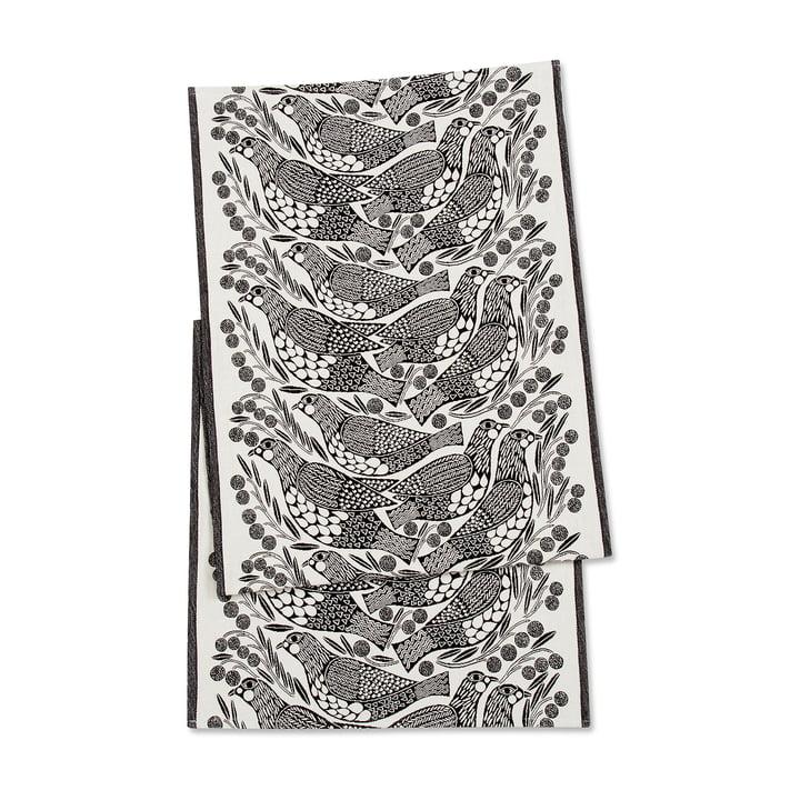 Der Marimekko - Kiiruna Tischläufer 47 x 150 cm in schwarz / weiß