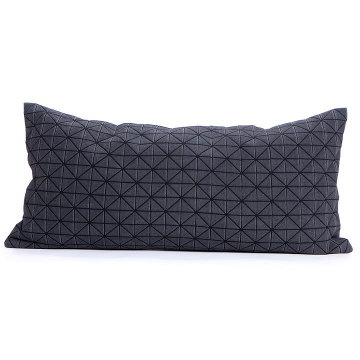 Mika Barr - Geo Origami Kissenbezug, 60 x 30 cm, schwarz