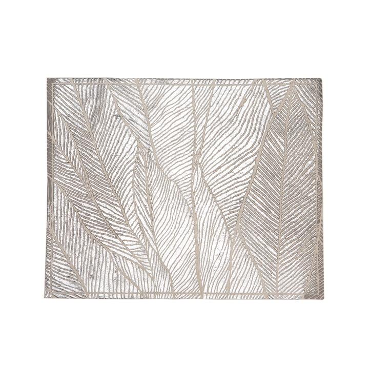 Mika Barr - Tischset Pinion, 50 x 40 cm, silber