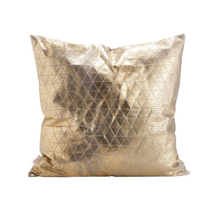 Mika Barr - Bling Kissenbezug, 50 x 50 cm, gold / grau