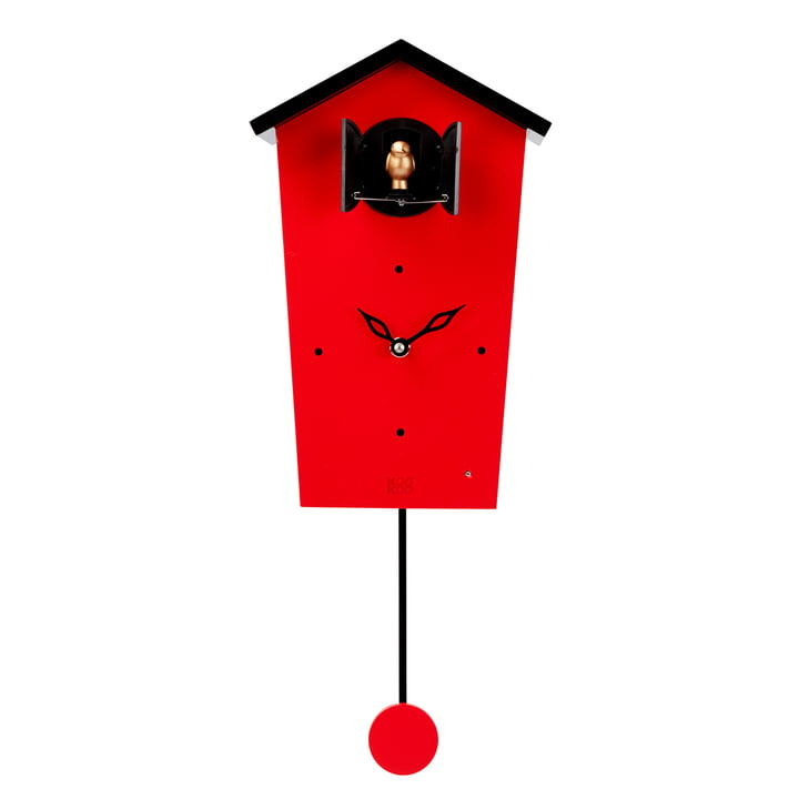 Die KooKoo - Bird House Kuckucksuhr in rot (Limited Edition)