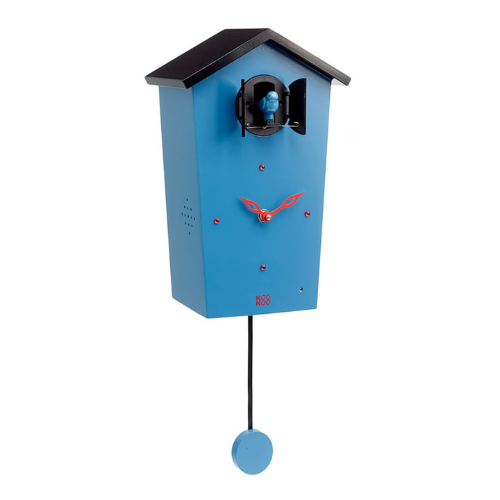 Bird House Kuckucksuhr von KooKoo in Blau (Limited Edition)