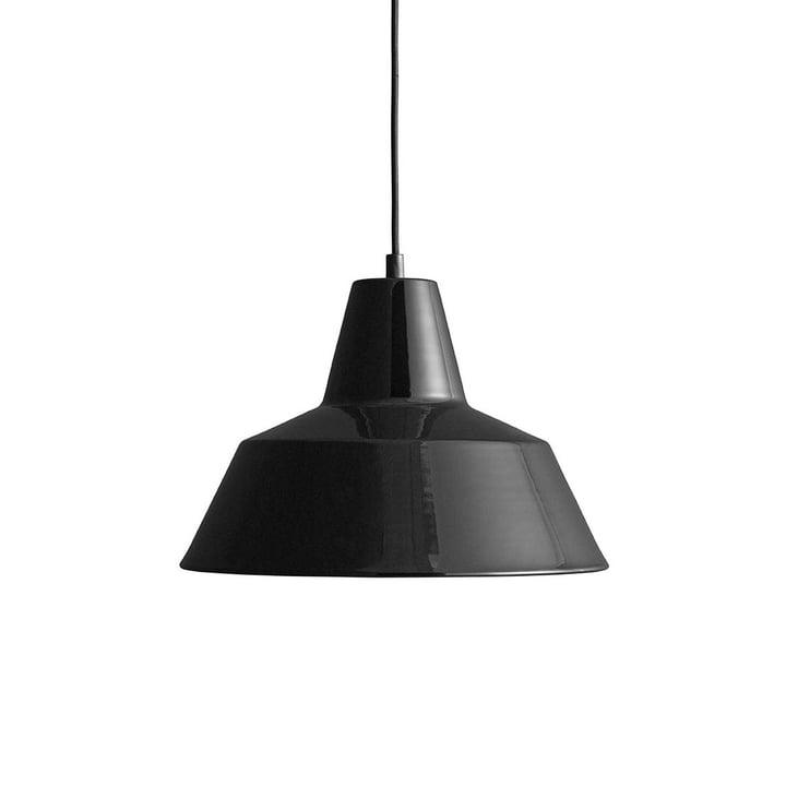 Workshop Lamp W3 von Made by Hand in glänzend Schwarz / Schwarz