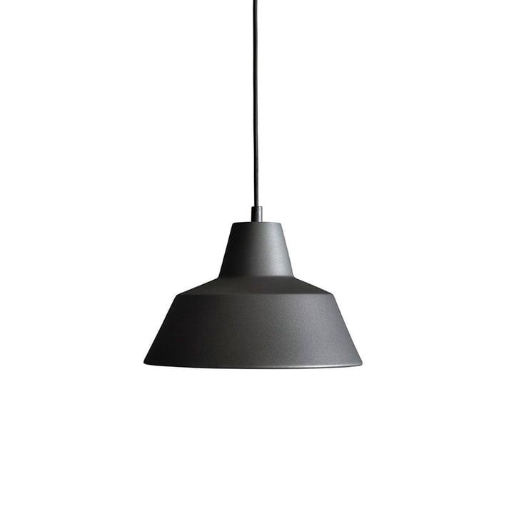 Workshop Lamp W2 von Made by Hand in Anthrazitgrau / Schwarz