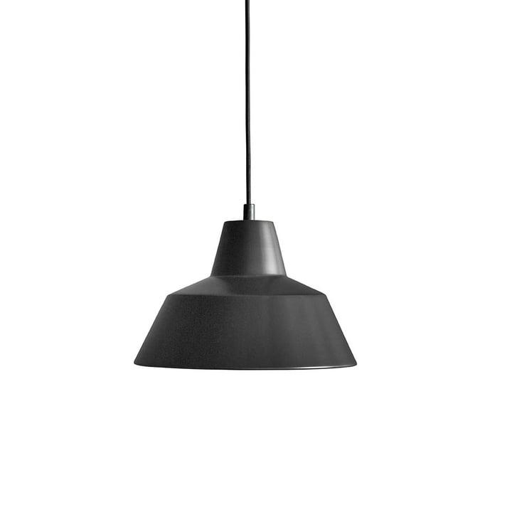 Workshop Lamp W2 von Made by Hand in Mattschwarz / Schwarz