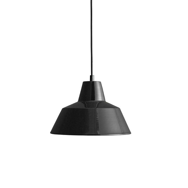 Workshop Lamp W2 von Made by Hand in glänzend Schwarz / Schwarz