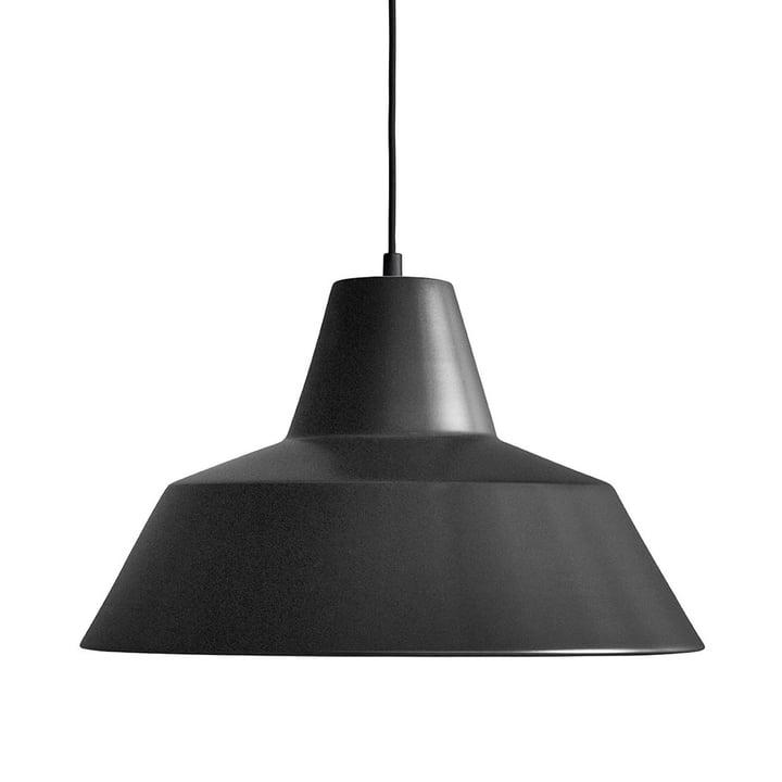 Workshop Lamp W4 von Made by Hand in Mattschwarz / Schwarz