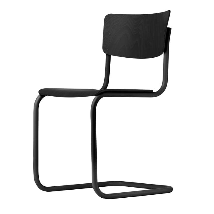 S 43 Stuhl von Thonet in Schwarz / Buche schwarz gebeizt (TP 29)