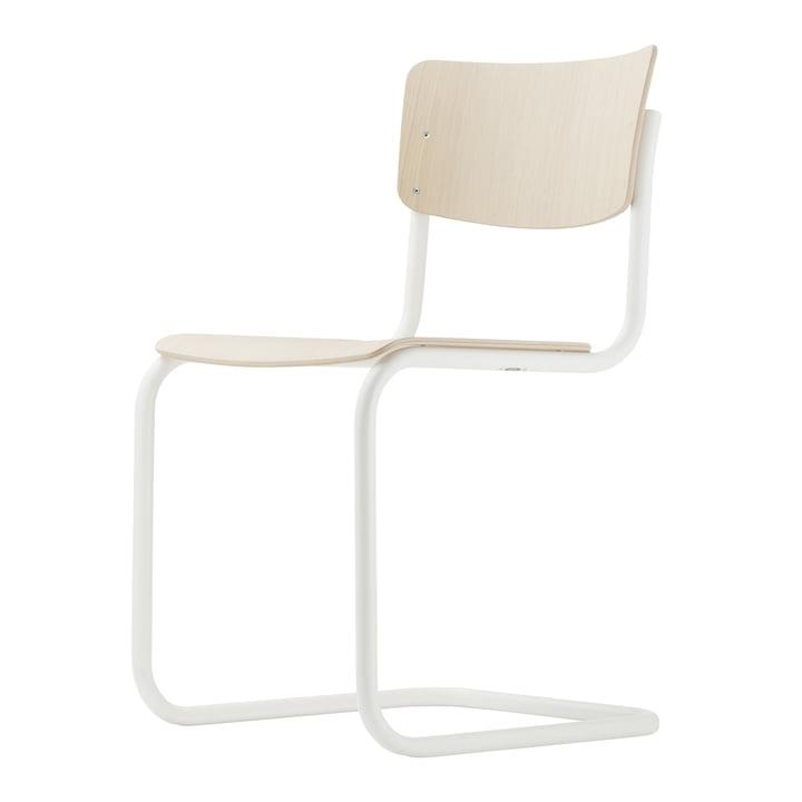 S 43 Stuhl von Thonet in Weiß / Buche hell (TP 107)