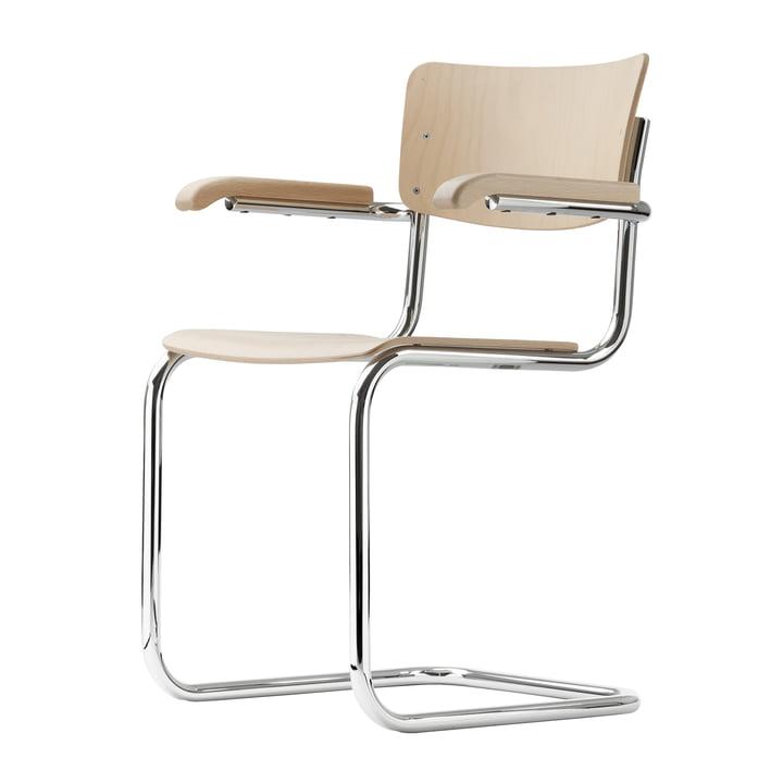 S 43 F Stuhl von Thonet aus Chrom / Buche natur (TP 17)