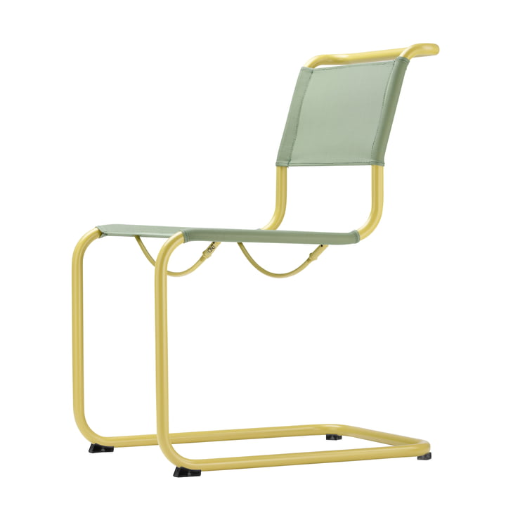 S 33 N All Seasons Stuhl von Thonet in Senfgelb / Moos