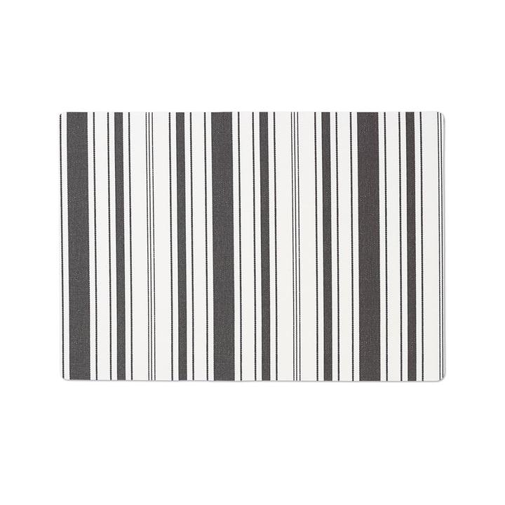 Das Juna - Urban New Stripe Tischset 30 x 45 cm in jet black