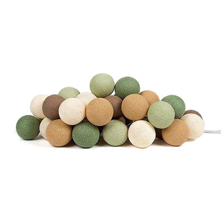 Cotton Ball Lights - Lichterkette 35er Set, forest green
