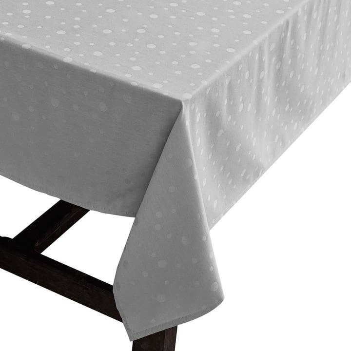 Die Juna - Dot Tischdecke in hellgrau