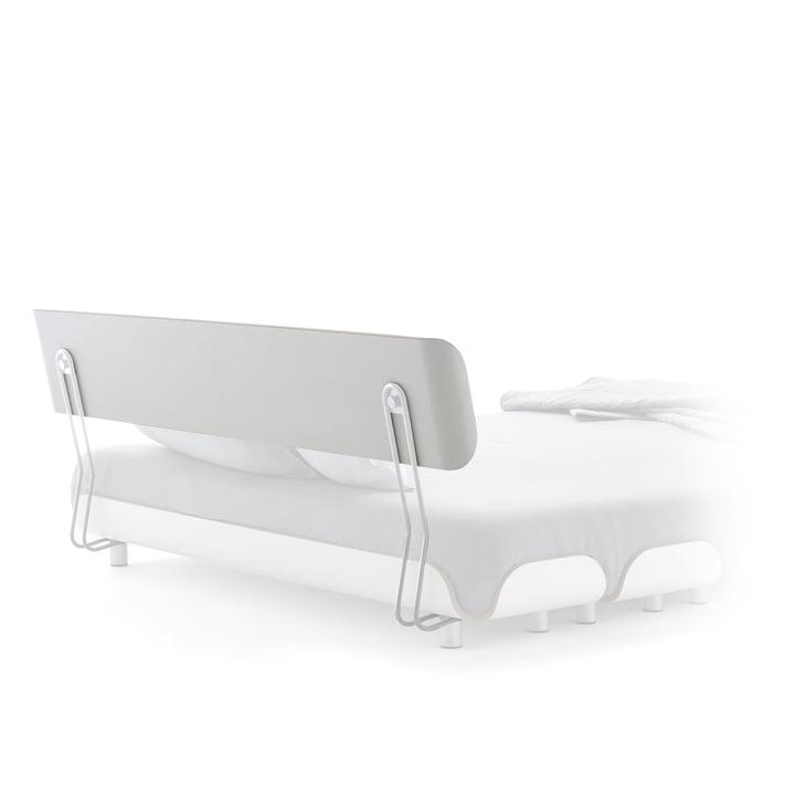 Rückenlehne für Tiefschlaf Bett 160 cm von Stadtnomaden in Weiß