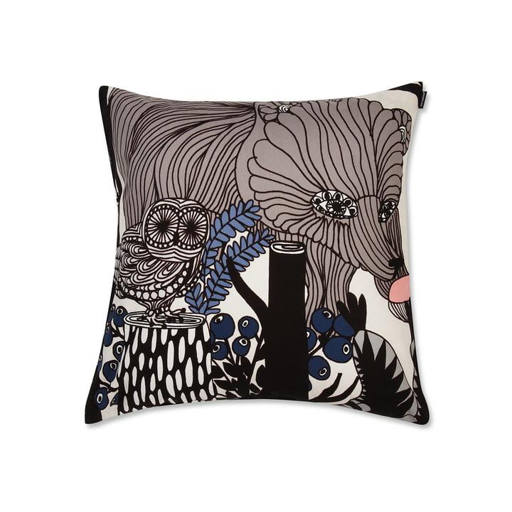 Marimekko - Veljekset Kissenbezug 50 x 50 cm, taupe, blau, schwarz