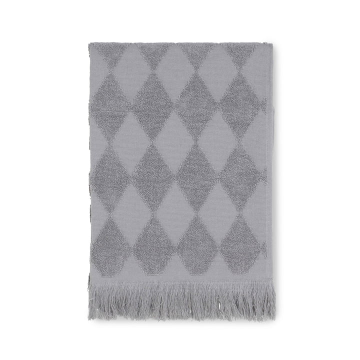 Das Juna - Diamond Handtuch 50 x 100 cm in grau