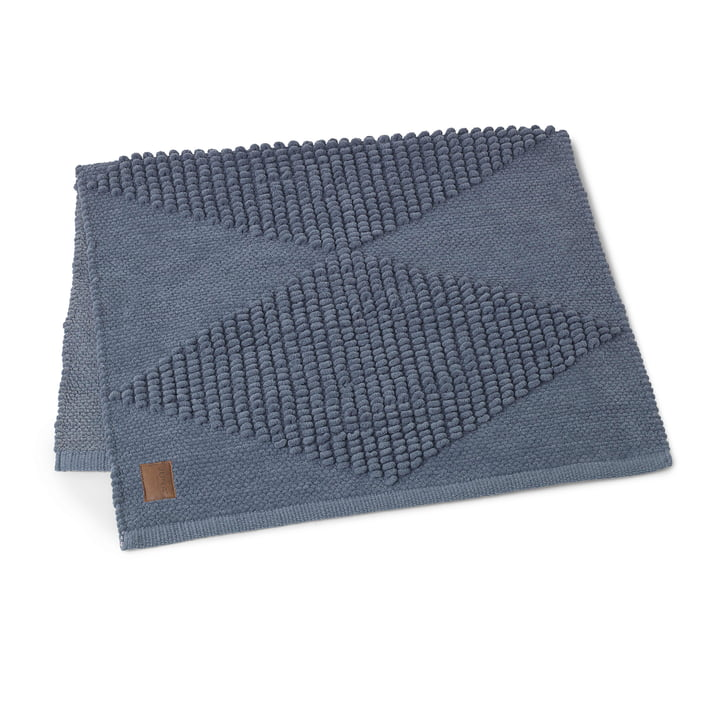 Die Juna - Diamond Badematte 100 x 60 cm in rauchblau