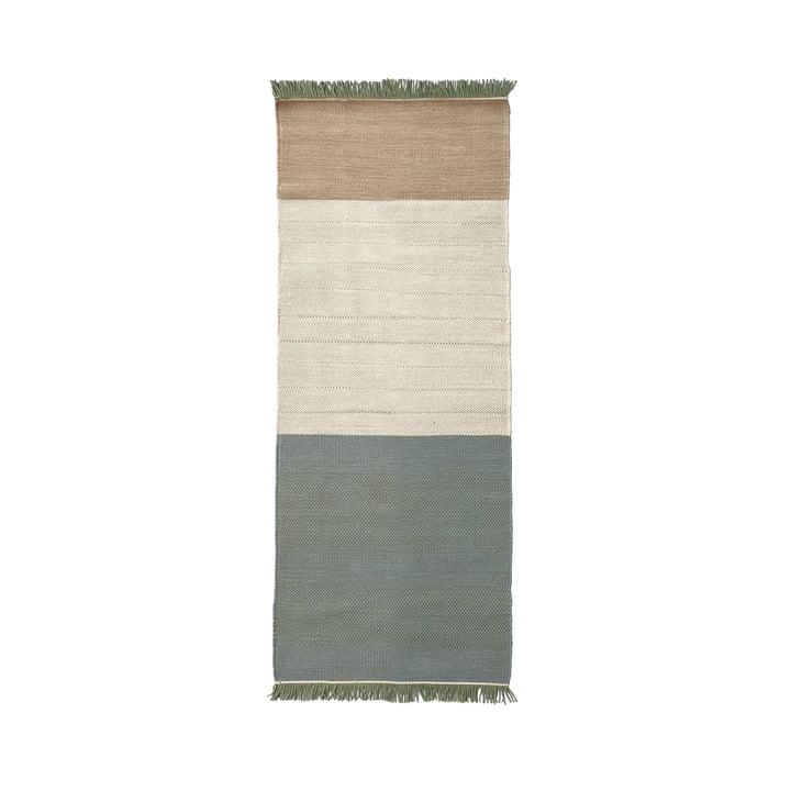 Der nanimarquina - Tres Stripes 80 x 240 cm in salvia
