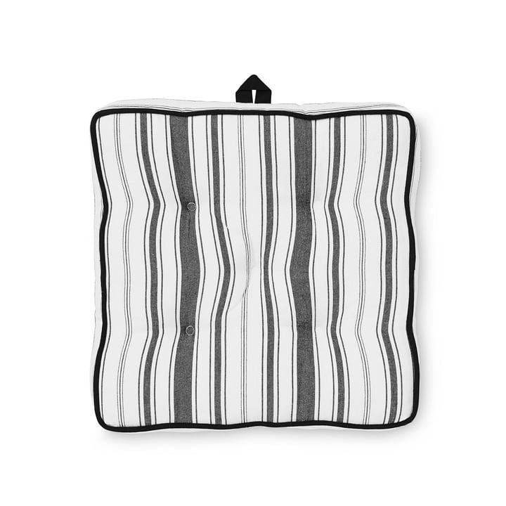 Das Juna - Urban New Stripe Sitzkissen H 8 cm in jet black