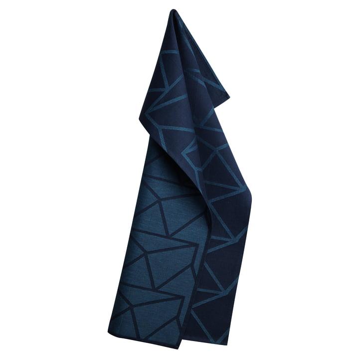 Das Georg Jensen Damask - Arne Jacobsen Geschirrtuch in dunkelblau