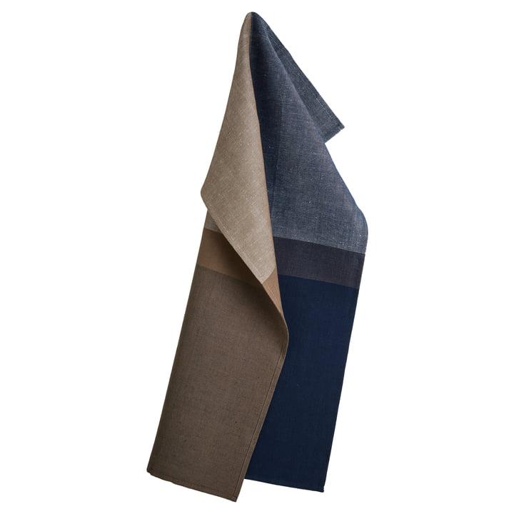 Colourblock Geschirrtuch 50 x 80 cm von Georg Jensen Damask in Deep Blue
